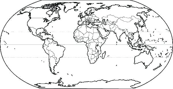Printable World Map Coloring Page At GetDrawings Free Download
