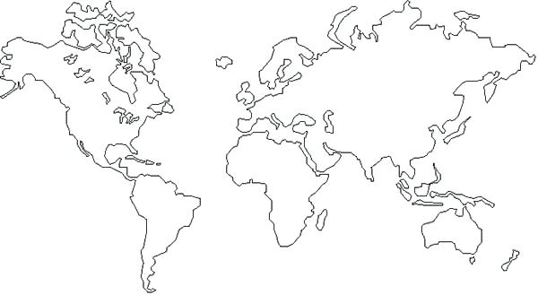 600x329 World Map Coloring Pages Printable Innovation Inspiration World