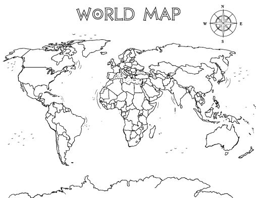 The Best Free World Map Coloring Page Images Download From 50 Free