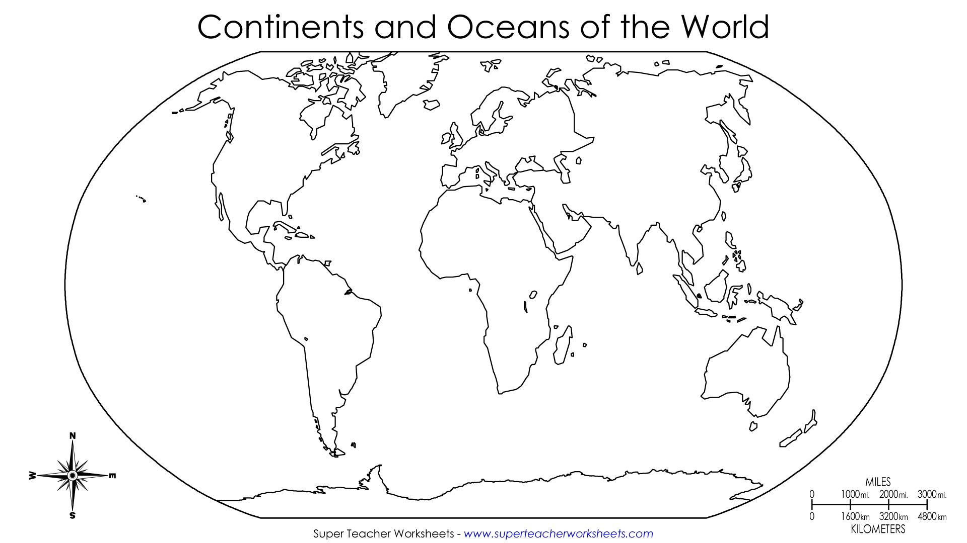 1920x1080 Continents Of The World Worksheets This Basic World Map Shows