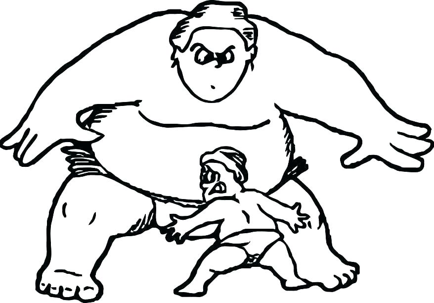 878x612 Terrific Wrestlers Coloring Pages Terrific Wrestlers Coloring