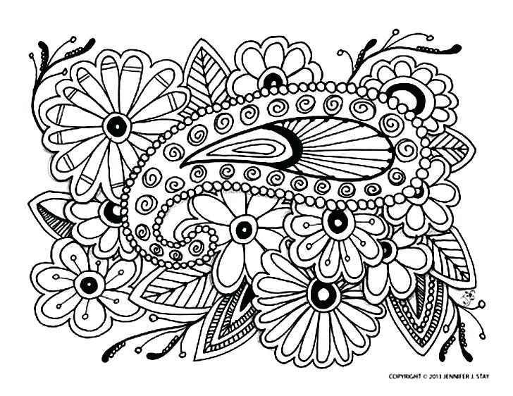 728x562 Beautiful Anti Stress Coloring Pages Printable And Adult Paisley