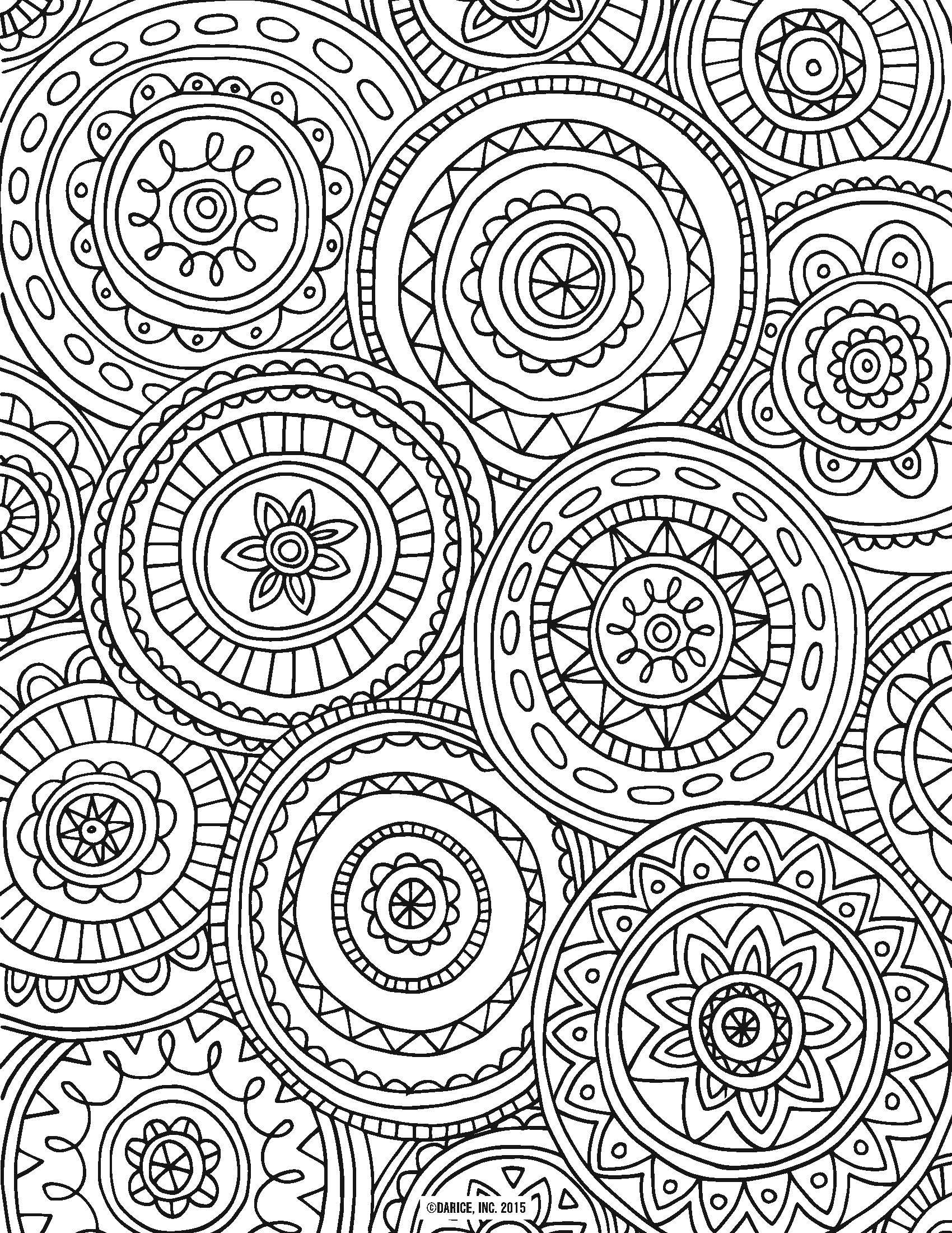 1700x2200 Awesome Zen Anti Stress Coloring Page Abstract Pattern Inspired