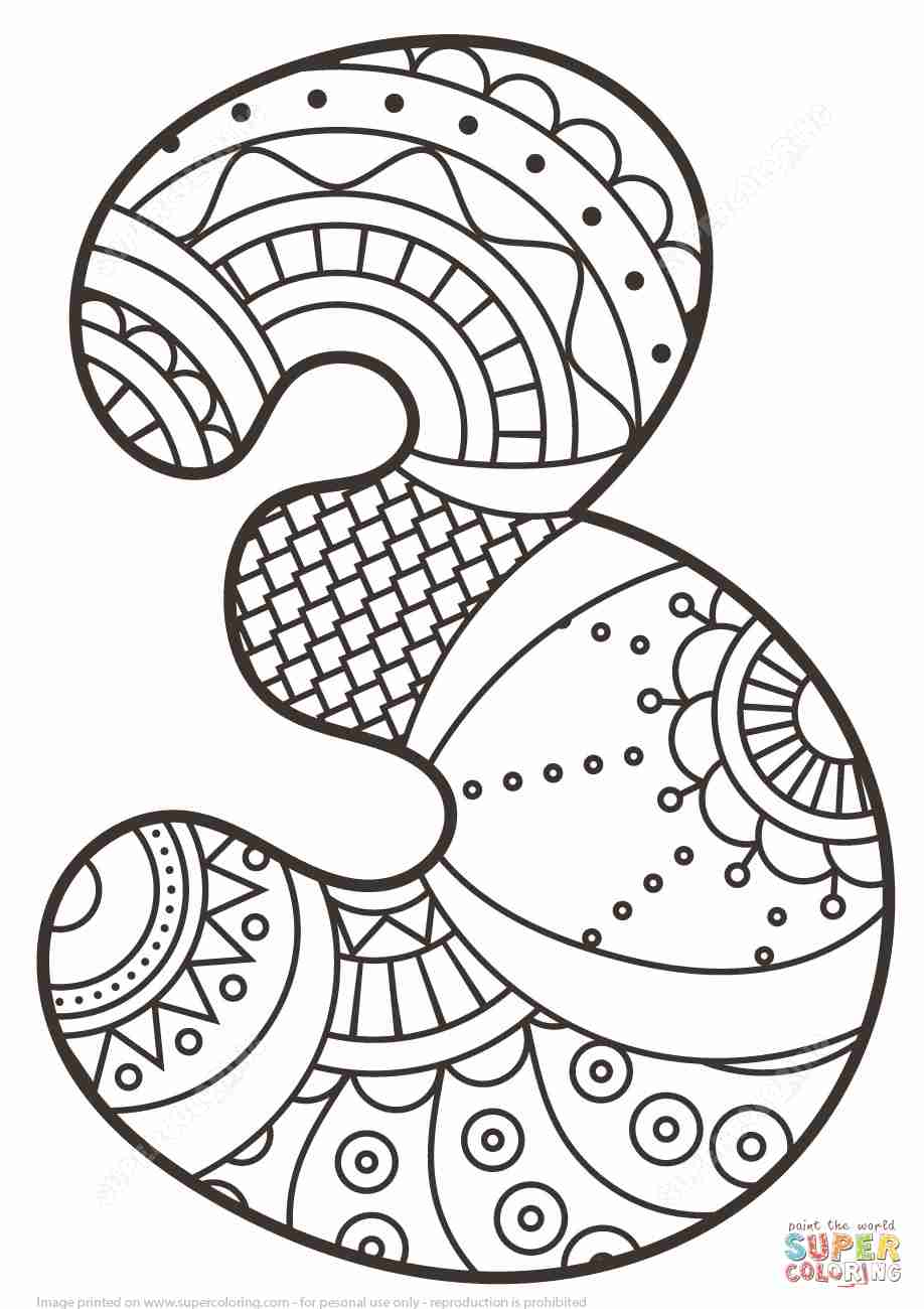 918x1300 Number Zentangle Coloring Page Free Printable Pages Stunning
