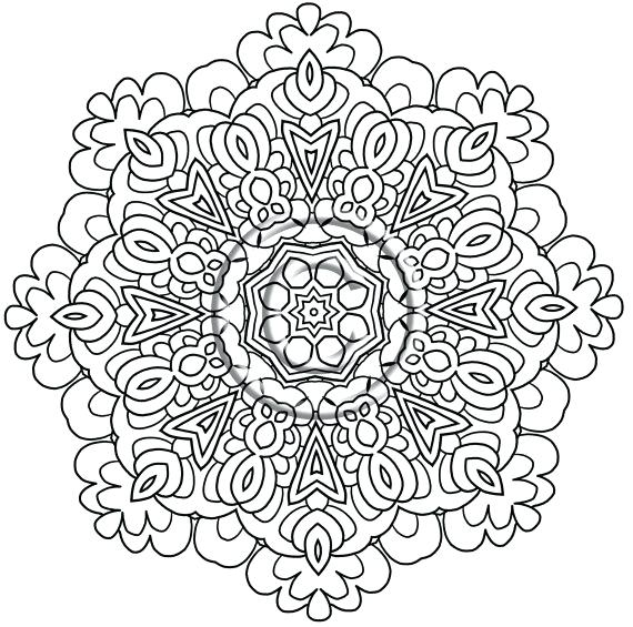 570x565 Zentangle Coloring Pages Free Printable Printable Coloring Page