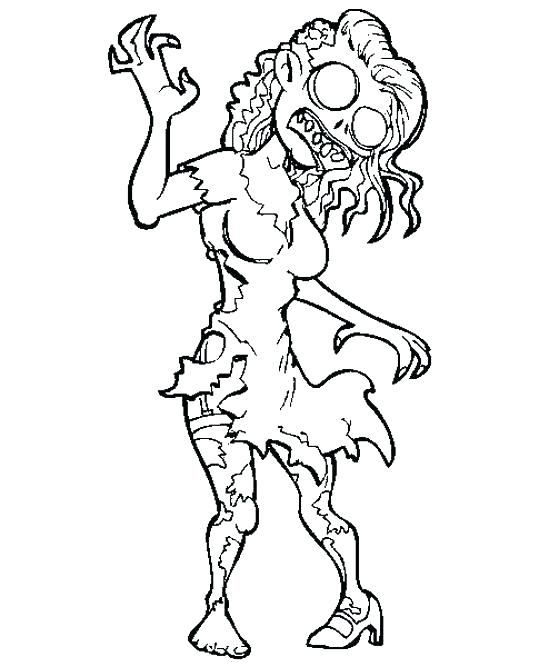 Printable Zombie Coloring Pages At GetDrawings Free Download