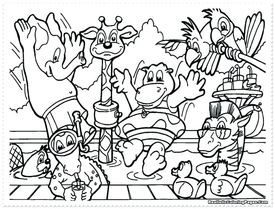 Printable Zoo Animals Coloring Pages At Getdrawings Com Free For
