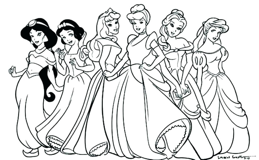 1024x633 Disney Coloring Pages Free Baby Coloring Pages To Print Princess