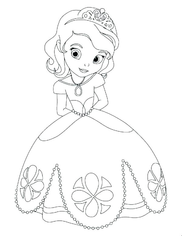 600x776 Princess Coloring Pages Free Printable Princess Coloring Pages