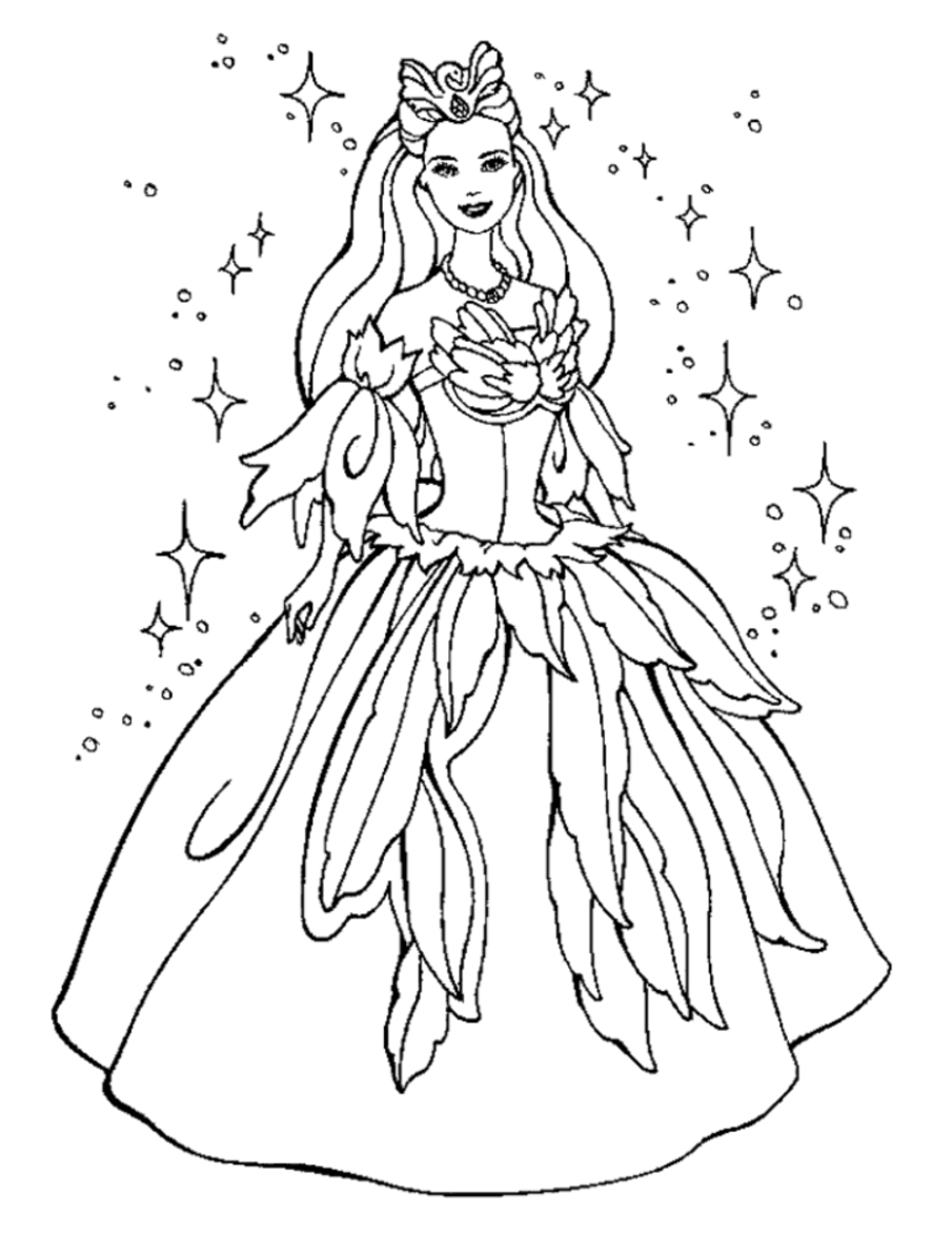 905x1192 Print Barbie Princess Coloring Page Pages Printables Archives Free