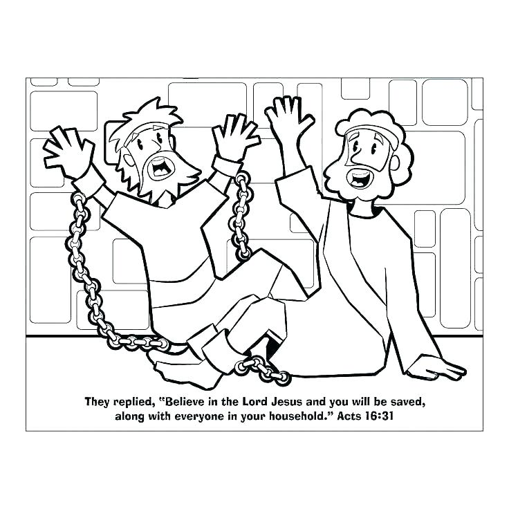 736x736 Bible Coloring Pages And In Prison For Free Bible Coloring Pages