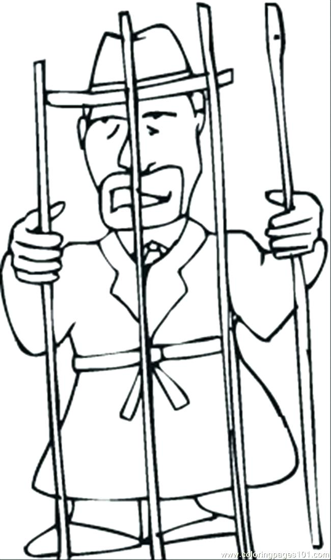650x1099 Joseph Prison Coloring Page In Jail As Well Bible Story Together