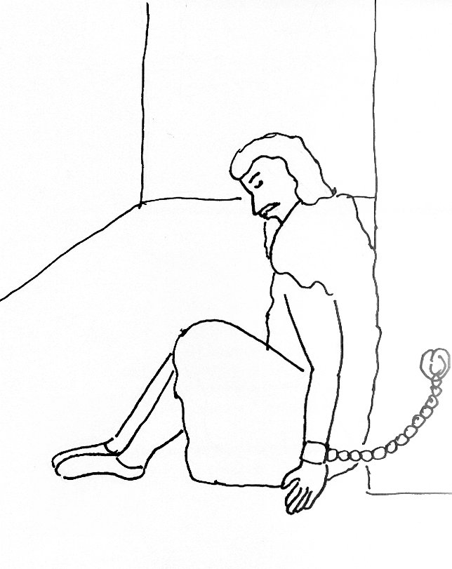 644x811 Bible Story Coloring Page For John The Baptist In Prison Free