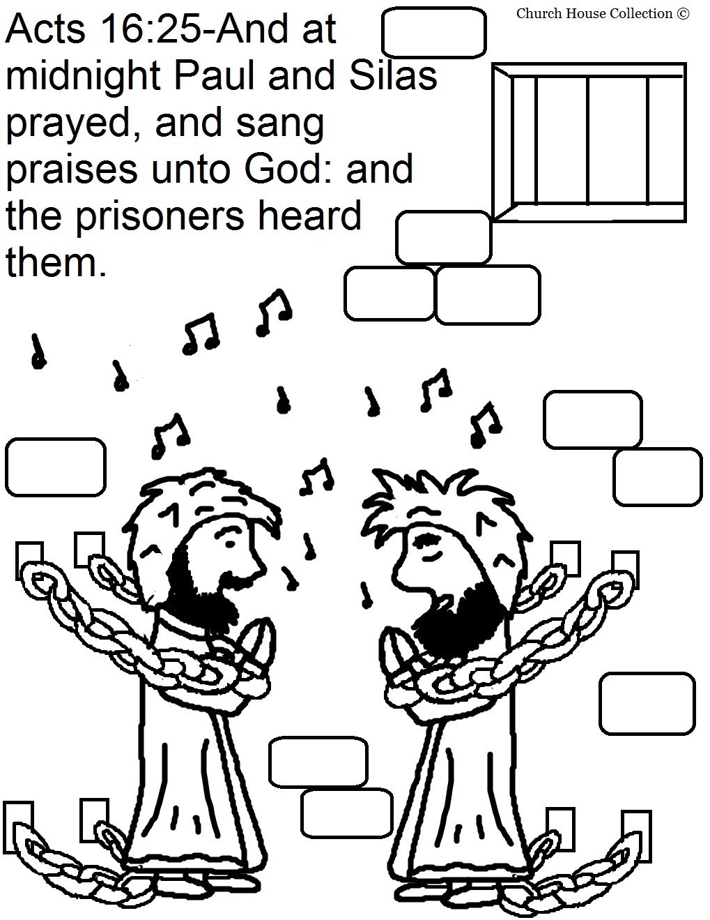 1019x1319 Paul And Silas Coloring Page Free
