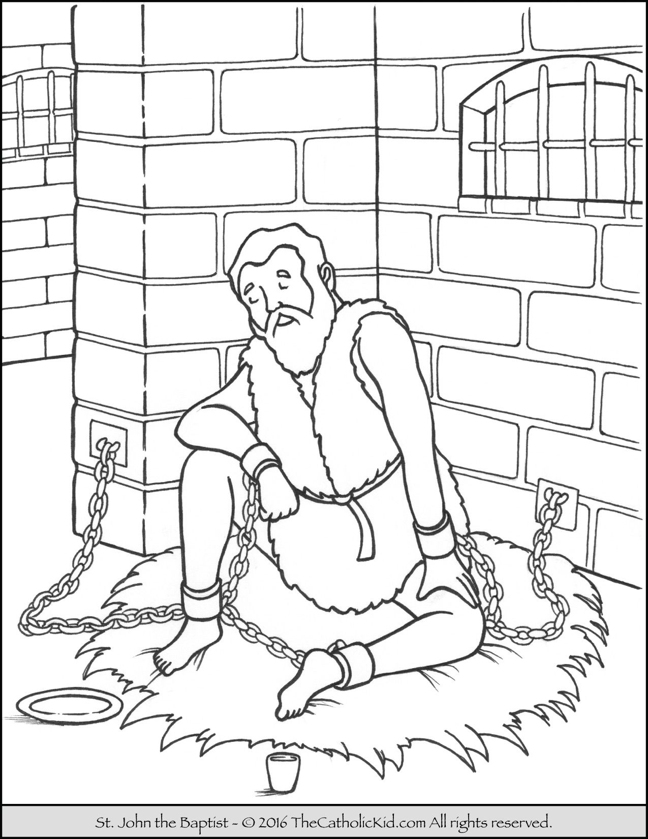 1275x1650 Willpower Peter And John In Jail Coloring Page