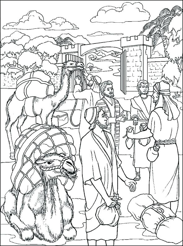 590x792 Coloring Joseph Bible Coloring Pages Story Of Top Rated Color