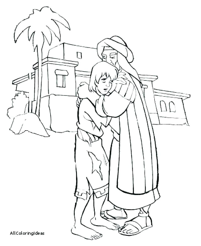 800x982 Prodigal Son Coloring Page Bible Prodigal Son Picture Bible Story