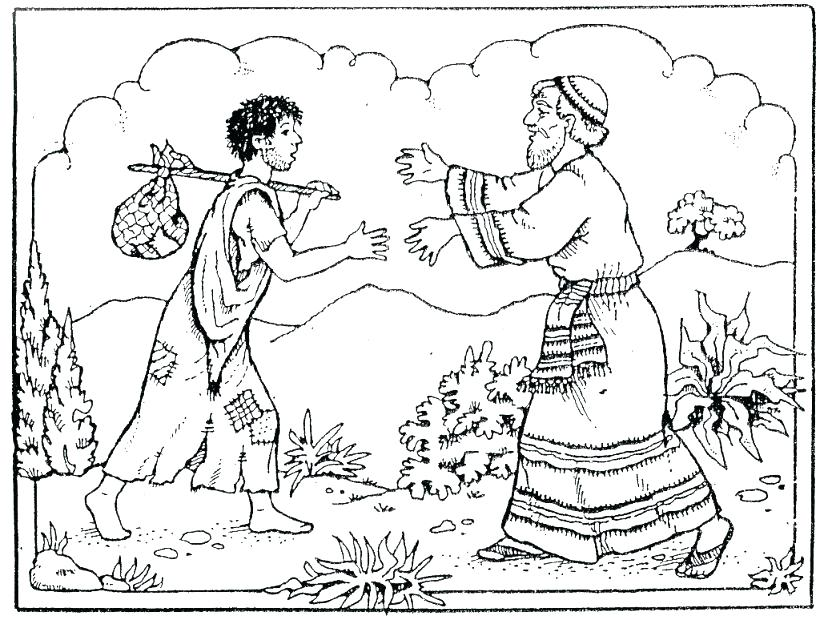 828x620 Prodigal Son Coloring Page Prodigal Son Coloring Pages Preschool
