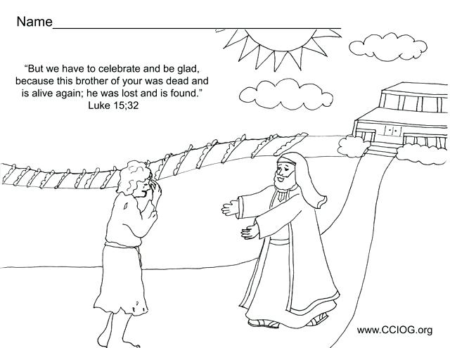 640x495 Prodigal Son Coloring Pages And Prodigal Son Coloring Page Lost