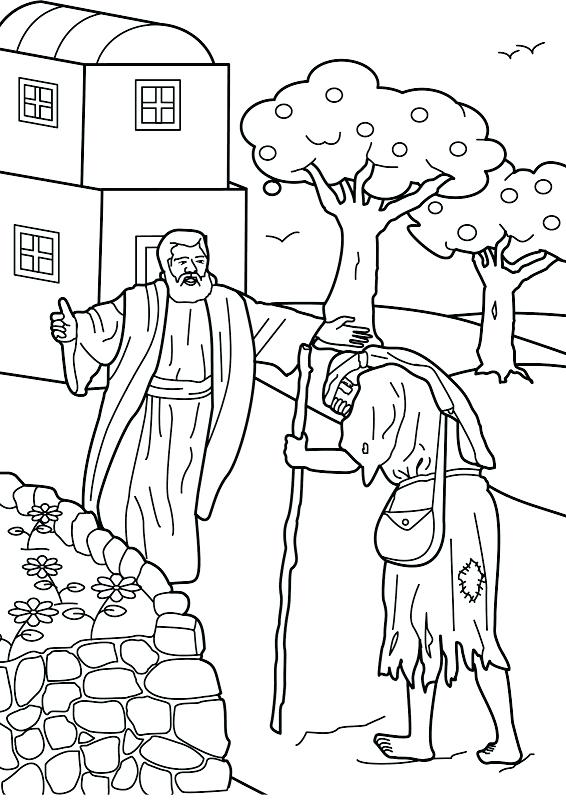 566x800 Prodigal Son Colouring Pages Prodigal Son Comes Home Bible