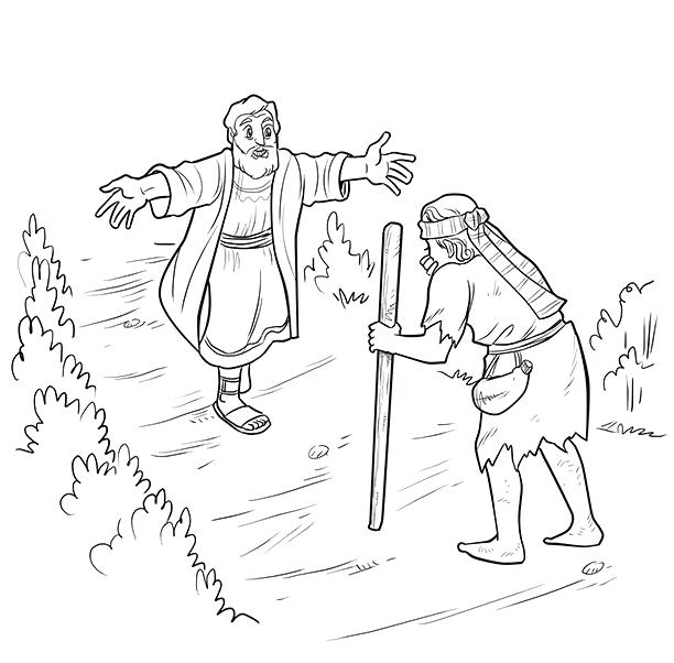 612x602 The Prodigal Son Colo Beautiful Prodigal Son Coloring Pages