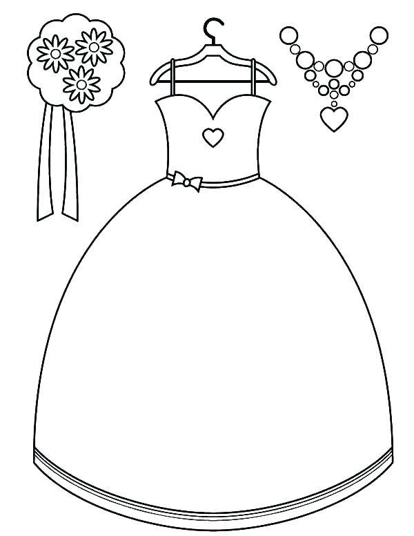 Prom Dress Coloring Pages At Getdrawings Com Free For Personal Use