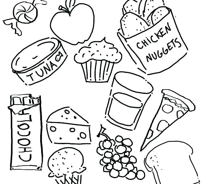 678x600 Food Group Coloring Pages Protein Food Group Coloring Pages