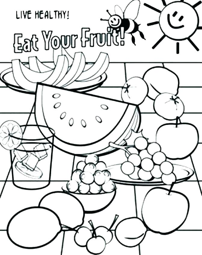 672x847 Healthy Coloring Pages Live Healthy Eating Your Proteins Coloring