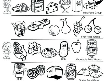 440x330 Ideas Food Group Coloring Pages For Protein Food Group Coloring