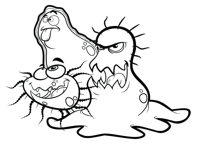 763x581 Bacteria Coloring Pages Coloring Page Bee Lovely Bumble Bee
