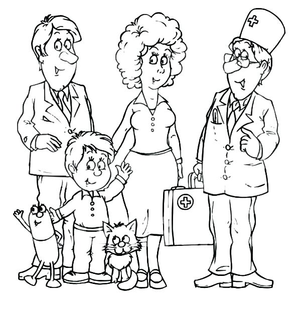 600x627 Family Coloring Pages Animal Dog Family Coloring Page Pages Family