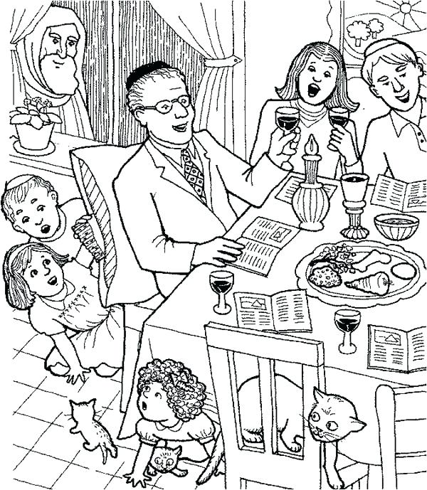 600x689 Family Coloring Pages Celebrating With Whole Families Coloring