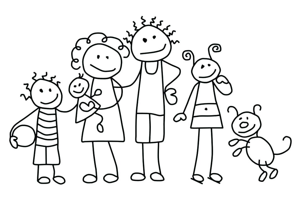 960x639 Family Coloring Pages Joint Family Gather In Living Room Coloring