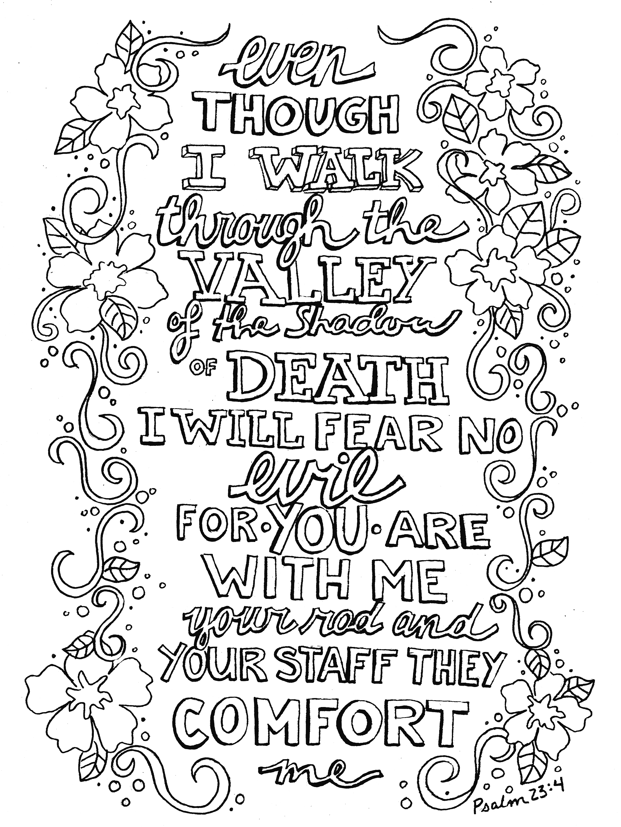 Psalm 23 Coloring Page