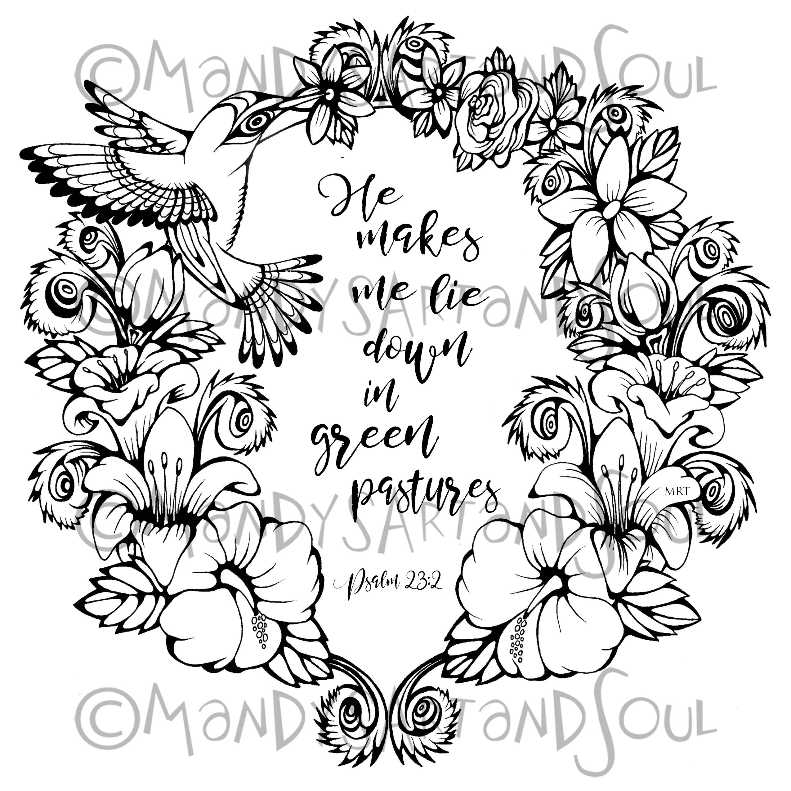 2550x2550 Largest Psalm Coloring Page Refundable Page