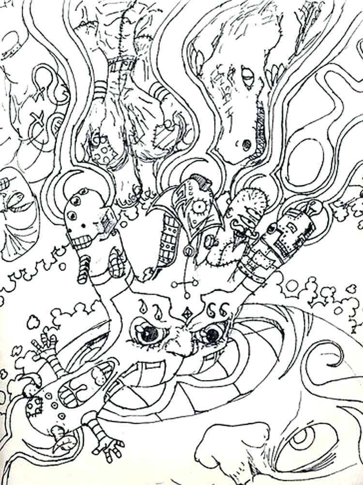 Psychedelic Coloring Pages Print at GetDrawings.com | Free ...