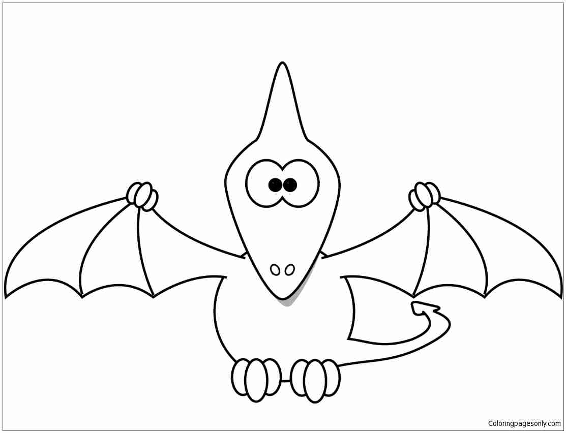1113x852 Pteranodon Flying Coloring Page Free Printable Pages Bright