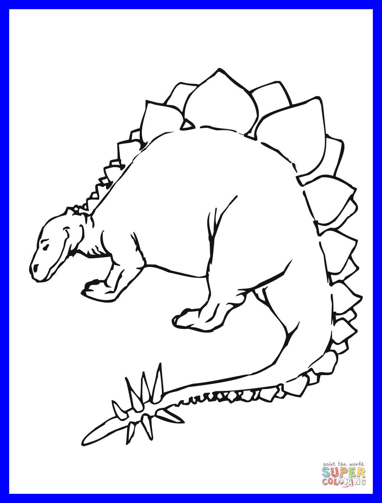 1260x1660 Shocking Stegosaurus Dinosaur Coloring Page Printable