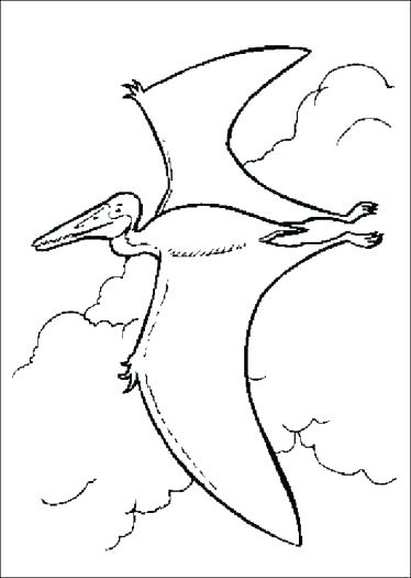 374x525 Pterodactyl Coloring Page Pterodactyl Coloring Page Pterodactyl