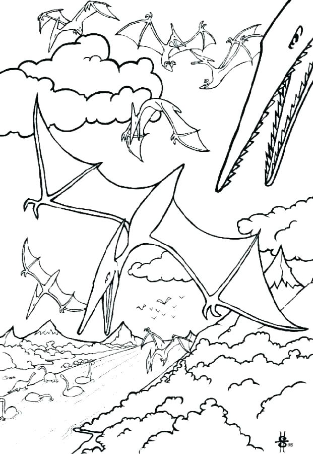 621x900 Pterodactyl Coloring Page Pterodactyl Coloring Pages For Kids Free