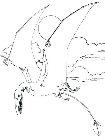 360x480 Pterodactyl Coloring Pages Pterodactyl Coloring Page Click To See