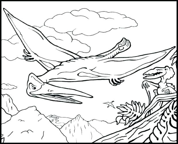 620x502 Pterodactyl Coloring Pages Pterodactyl Coloring Page Flying