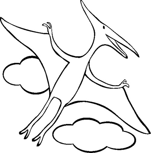 500x508 Pterodactyl Coloring Page Dinosaur Activities