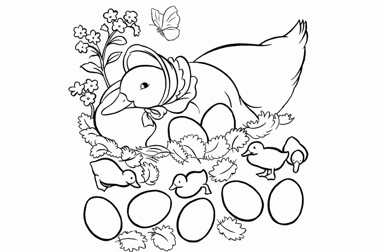 750x500 Duck Coloring Pages Unique Peter Rabbit And Jemima Puddle Duck