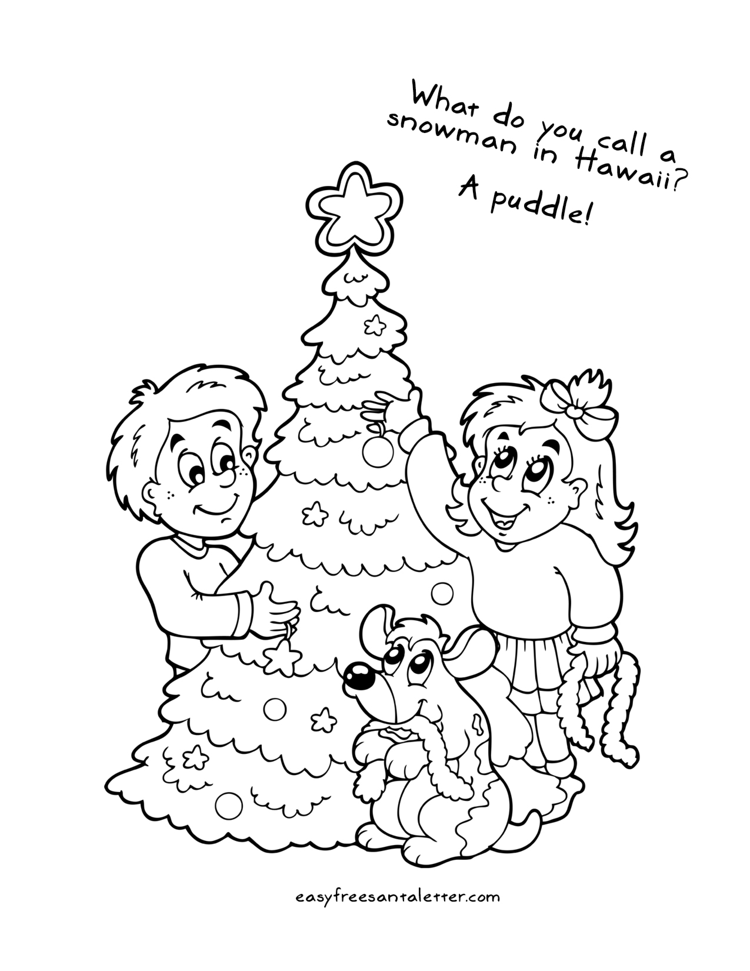 2550x3300 Free Printable Christmas Coloring Pages