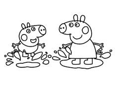 236x176 Image Result For Peppa Pig Muddy Puddles Coloring Pages Peppa