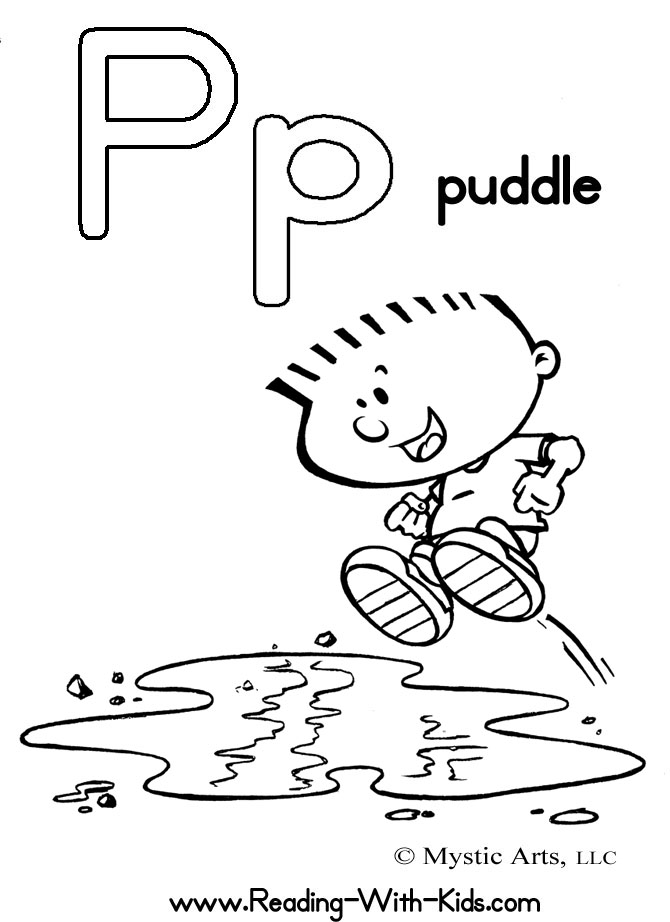 670x922 Letter P Coloring Pages Puddle