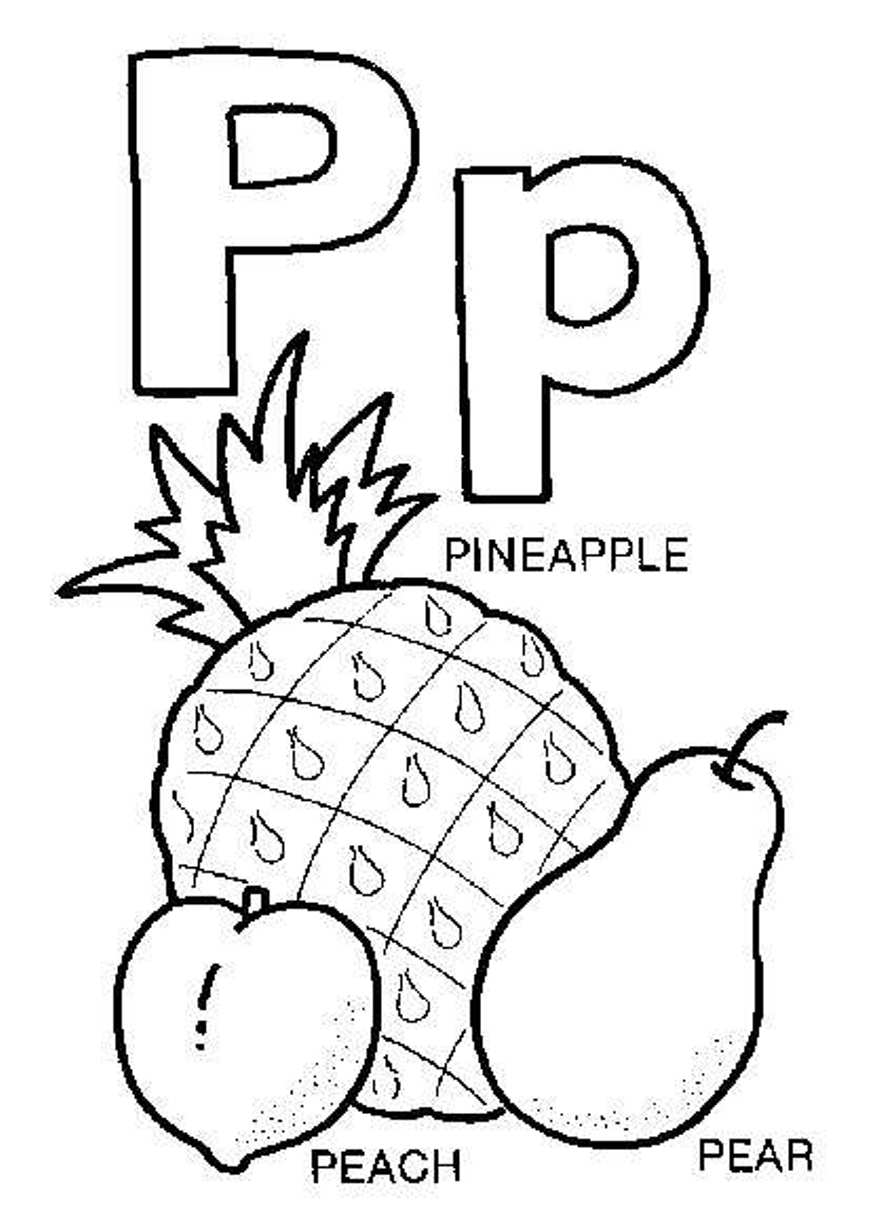 882x1228 Letter P Is For Pig Coloring Page Free Printable Pages Arresting