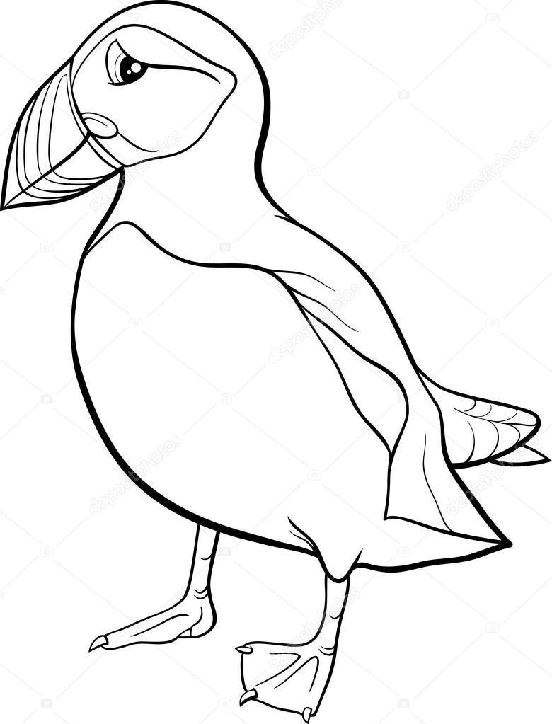 780x1023 Successful Puffin Coloring Page Cartoon Stock Vector Izakowski