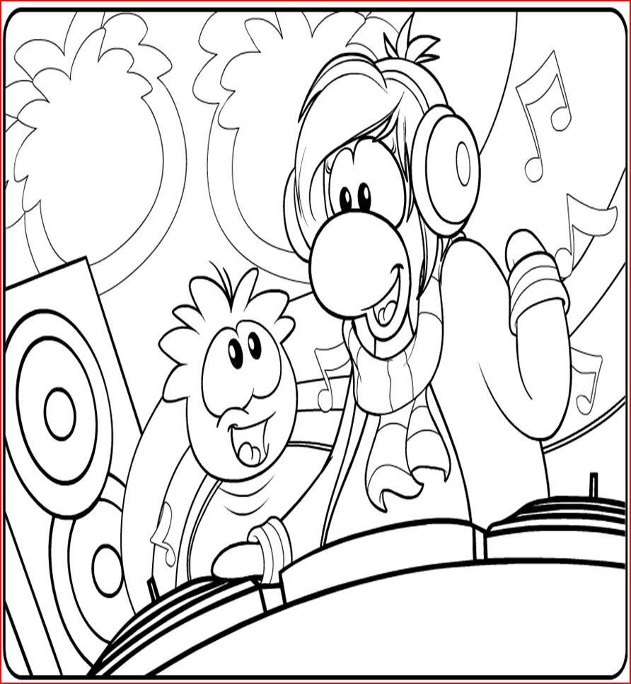 892x967 Free Printable Puffle Coloring Pages For Kids
